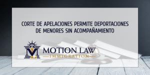 Corte de apelaciones reanuda las deportaciones de menores de edad sin acompañamiento