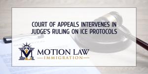Court of Appeals reverses judge's order regarding ICE protocols