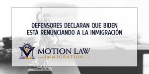 Defensores declaran que Biden debería presionar más para la reforma migratoria