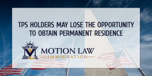 TPS holders cannot obtain permanent resident if they have a pending deportation case