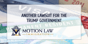 Winners of the diversity visa lottery filed a lawsuit against Trump's administration