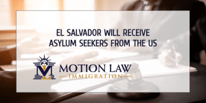 The Trump administration established an immigration agreement with El Salvador