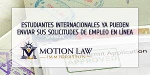 USCIS: Estudiantes internacionales pueden enviar ahora sus solicitudes de empleo