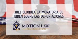 Juez federal bloquea la moratoria de 100 días sobre las deportaciones