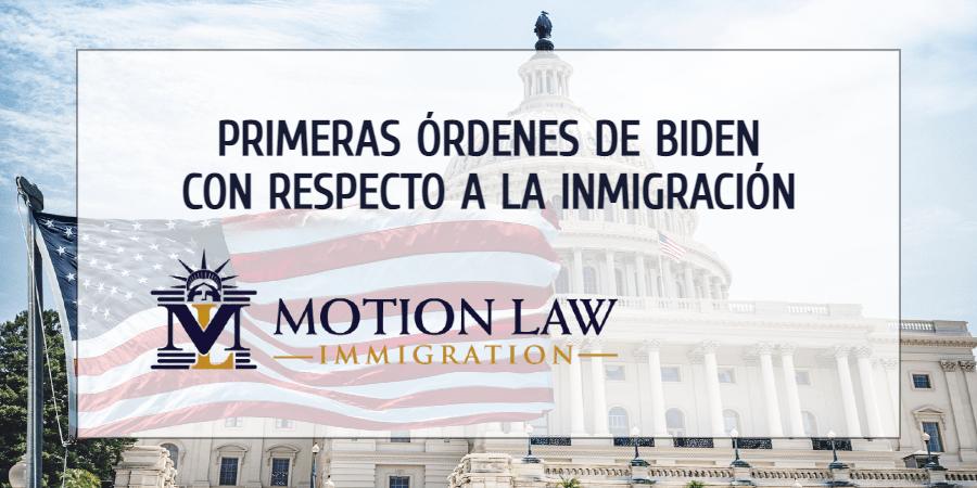 Las primeras acciones del gobierno de Biden con respecto a la inmigración