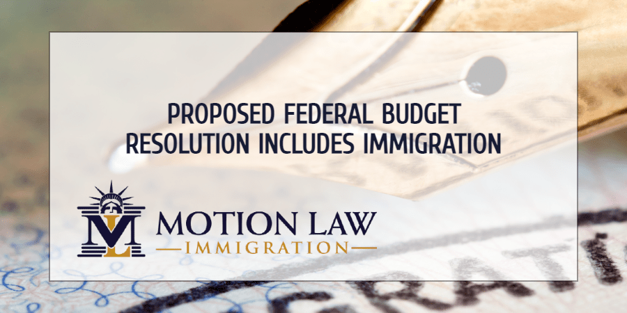The Biden administration includes immigration in budget resolution