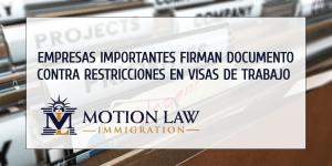 Empresas como Twitter, Amazon y Facebook presentaron apoyo en demanda judicial contra restricciones para trabajadores extranjeros