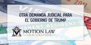ganadores de lotería de visas presentaron una demanda contra gobierno de Trump