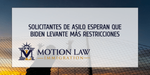 Solicitantes de asilo instan a la administración de Biden a levantar más restricciones