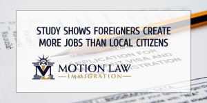 Foreigners create more jobs than American population