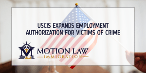 USCIS will issue employment permits for U nonimmigrant status petitioners
