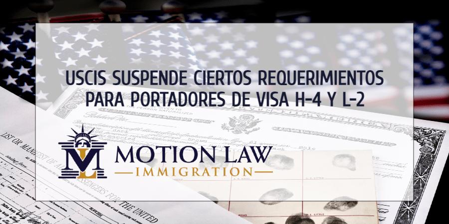 USCIS suspende requerimientos biométricos para renovar visas H-4 y L-2