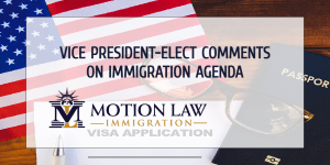 Vice President-elect comments on immigration proposals from the incoming government