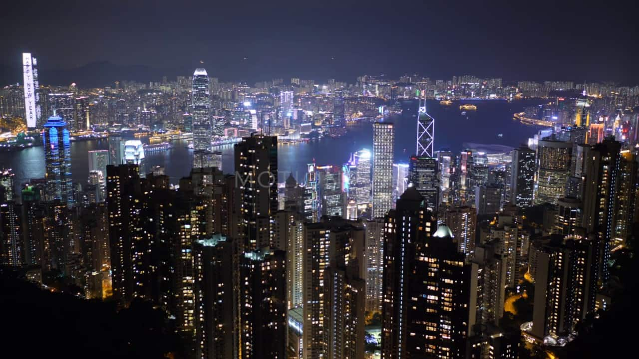 Fall Winter Wallpaper Free Hong Kong Night Cityscape Stock Footage Motion Places
