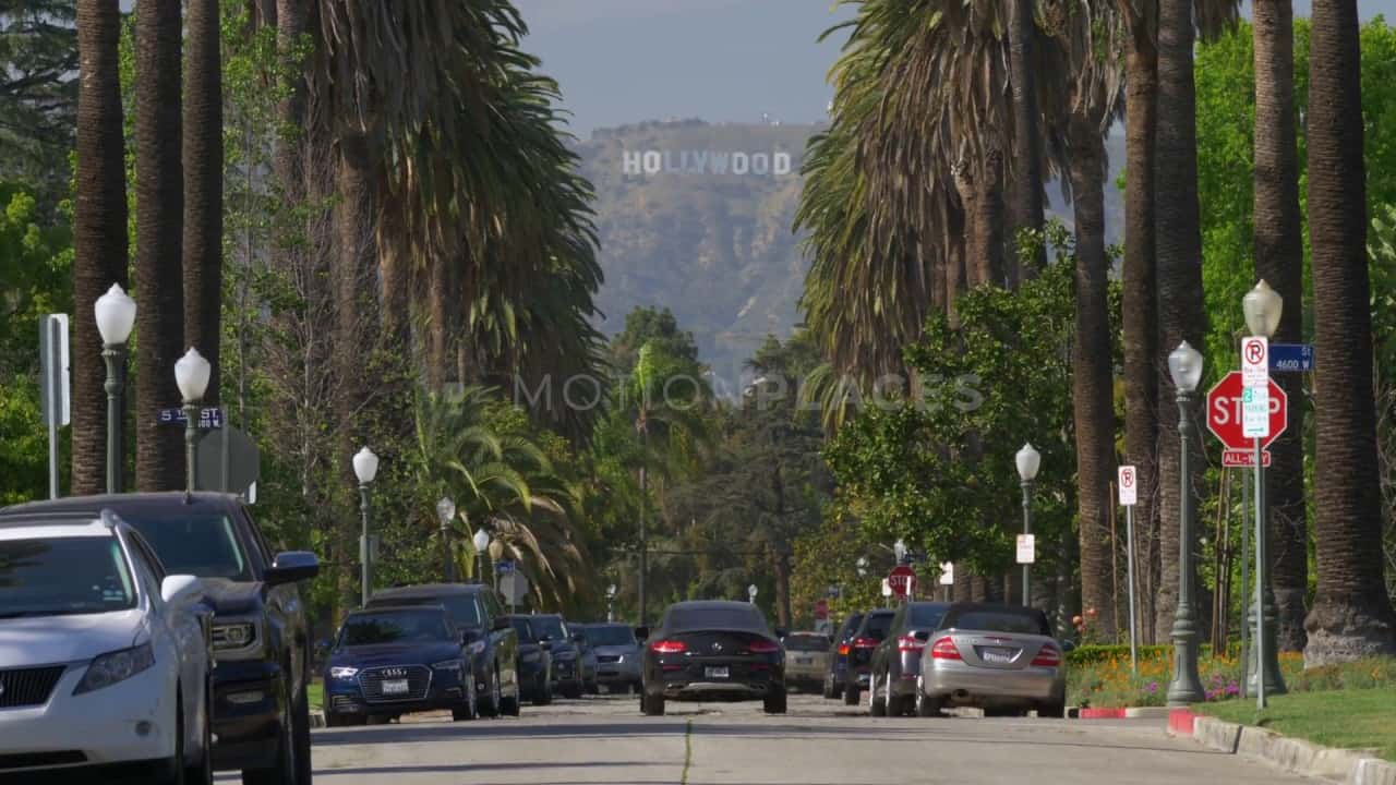 Ireland In The Fall Wallpaper Hollywood Sign Palm Tree Street Free Stock Footage