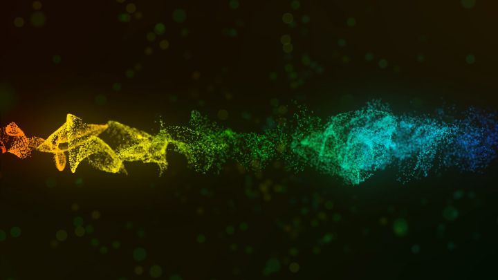 Colorful  particles  abstract background
