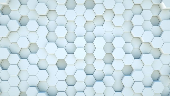 White Hexagon Blocks background Loop