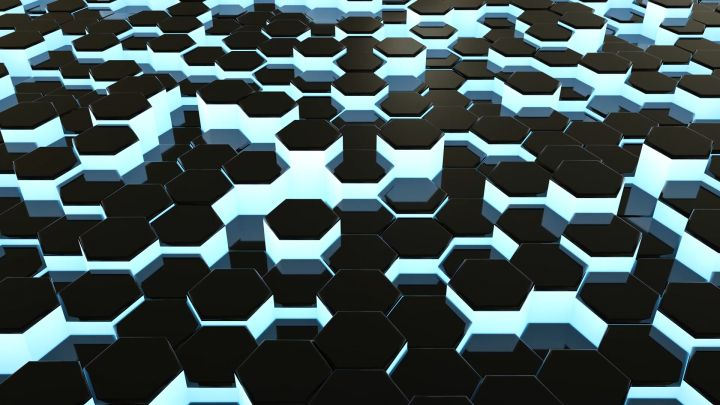 3D Hexagons Background Video