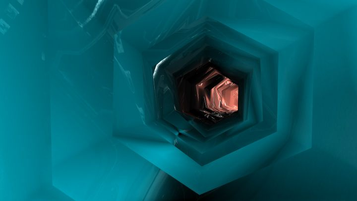 3D rendered Geometric Tunnel