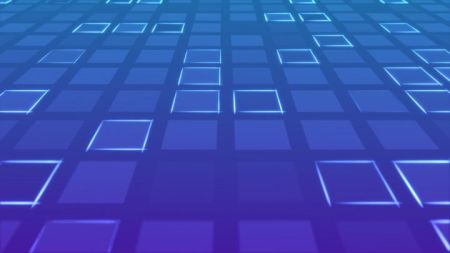 Glowing Blocks Outline Background