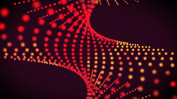 Red spiral Dots background