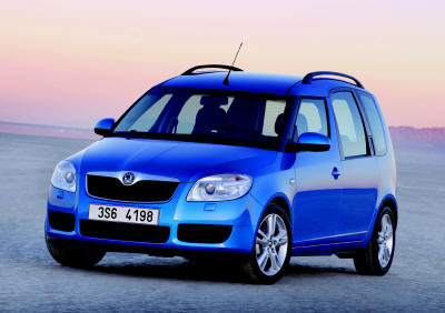 Skoda Roomster - front side view.
