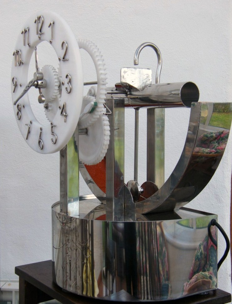 Water Powered Pendulum Clock Motion Welding