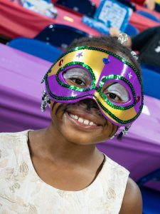Smiling Girl in Mask