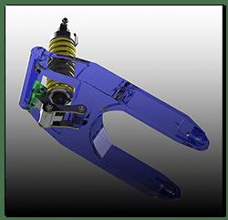 Aprilia Caponord ETV1000 Rally-Raid 3D translucent swingarm assembly