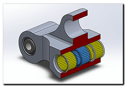 Aprilia Caponord ETV1000 Rally-Raid 3D CAD rear suspension block and bearings