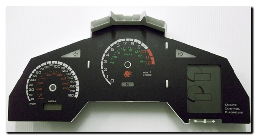 RST Futura based inlay with voltmeter and left/right indicator repeaters