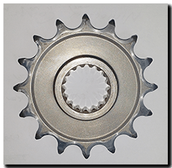 Aprilia Caponord ETV1000 Rally-Raid worn front sprocket after 19,410 miles