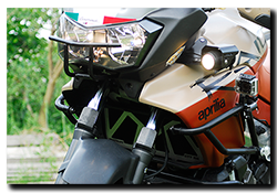 Aprilia Caponord ETV1000 Rally-Raid Motrag radiator protection/guard & fog lamp brackets
