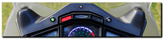 Aprilia Caponord ETV1000 Rally-Raid AS7, Sparkbright and dashboard autodimming LED's