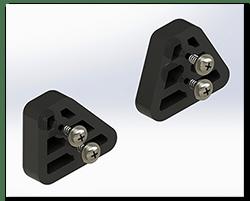 Aprilia Caponord ETV1000 Hepco Becker 45L top box alignment spacers