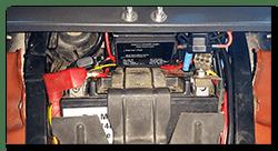 Aprilia Caponord ETV1000 Rally-Raid INNOVV Power Hub 1 installed above battery