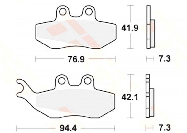 Bremsbeläge Vorne für Piaggio Skipper 125 LX, Gilera