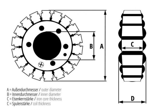 Lichtmaschine Stator KTM 400 450 520 525 SC SX EXC XC 95