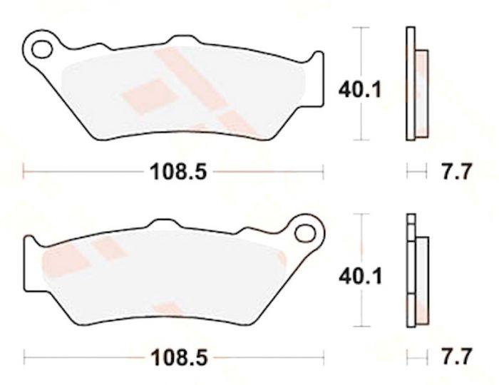 Bremsbeläge Sinter Hinten für BMW K 1600 GT, Moto Guzzi