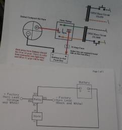 two wiring diagrams exactly the same i used the top one i cut a couple feet of wire for the horn to relay connection and one foot for the horn to ground  [ 1198 x 1119 Pixel ]