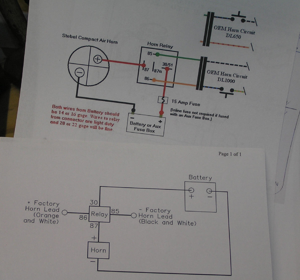 hight resolution of two wiring diagrams exactly the same i used the top one i cut a couple feet of wire for the horn to relay connection and one foot for the horn to ground