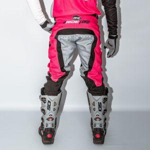 Back of adult pink engage motorsports pants