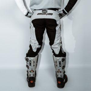 Back of adult grey engage motorsports pants