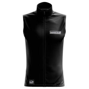 Front of Black Fresh motorsports Softshell Bodywarmer