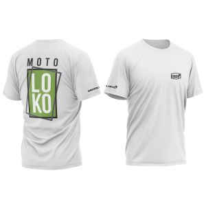 Green Boxed customised motorsports t-shirt showing front and back