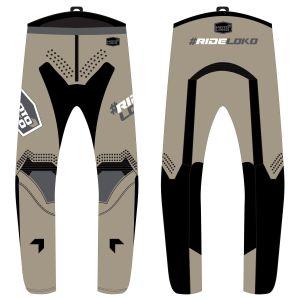 Front & back of sand engage motorsports pants