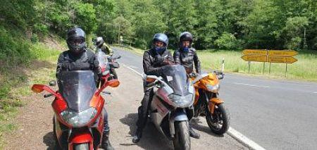 cursisten training moto maestro