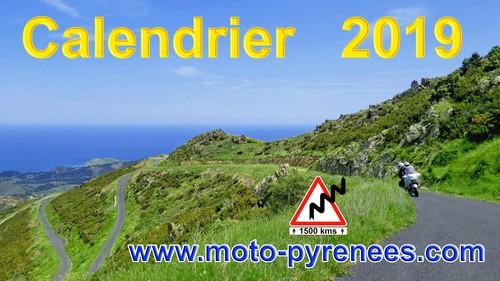 Moto Pyrénées balades voyages vacances Calendrier 2019 (1)