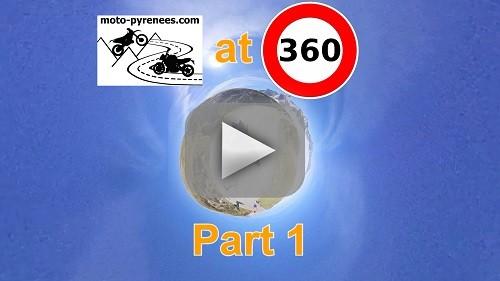 Moto Pyrénées vous filme à 360° dans des cols mythiques