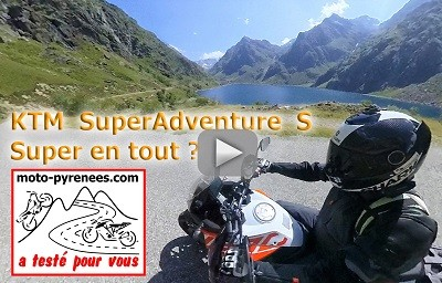 une vidéo fait par moto pyrénées sur la KTM Super Adventure S